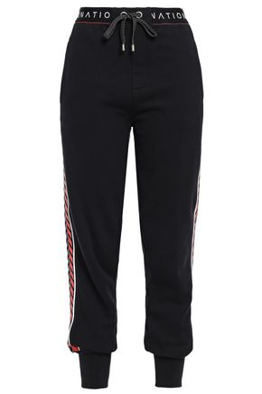 P.E NATION Printed French cotton-terry track pants