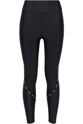 P.E NATION Cropped printed stretch leggings
