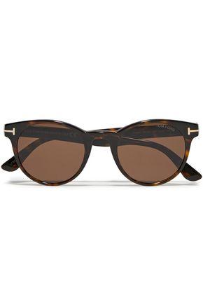 TOM FORD D-frame tortoiseshell acetate optical glasses