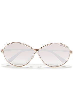 TOM FORD Cat-eye tortoiseshell acetate and gold-tone optical glasses