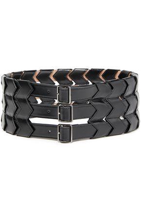 ALAÏA حزام من الجلد مع أجزاء مقصوصة