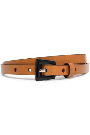 MICHAEL KORS COLLECTION Trapeze leather belt