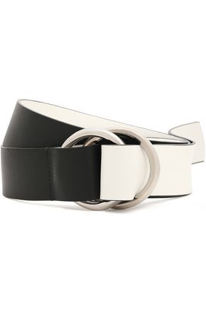 MICHAEL KORS COLLECTION Two-tone leather belt