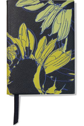 SMYTHSON Soho Sunflower textured-leather notebook