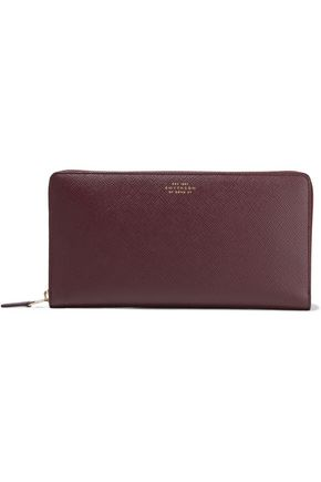 SMYTHSON Pebbled-leather continental wallet