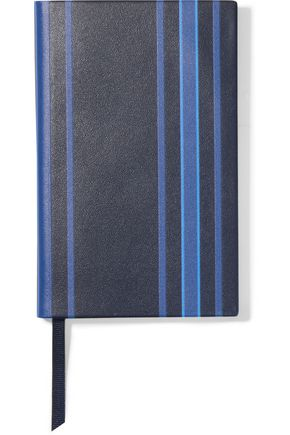 SMYTHSON Panama striped leather notebook