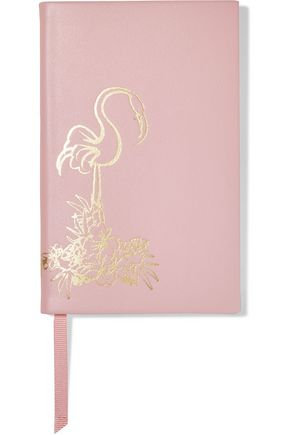 SMYTHSON Panama Flamingo leather notebook