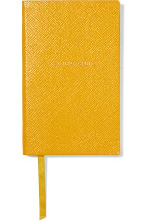 SMYTHSON Panama Culture Club textured-leather notebook
