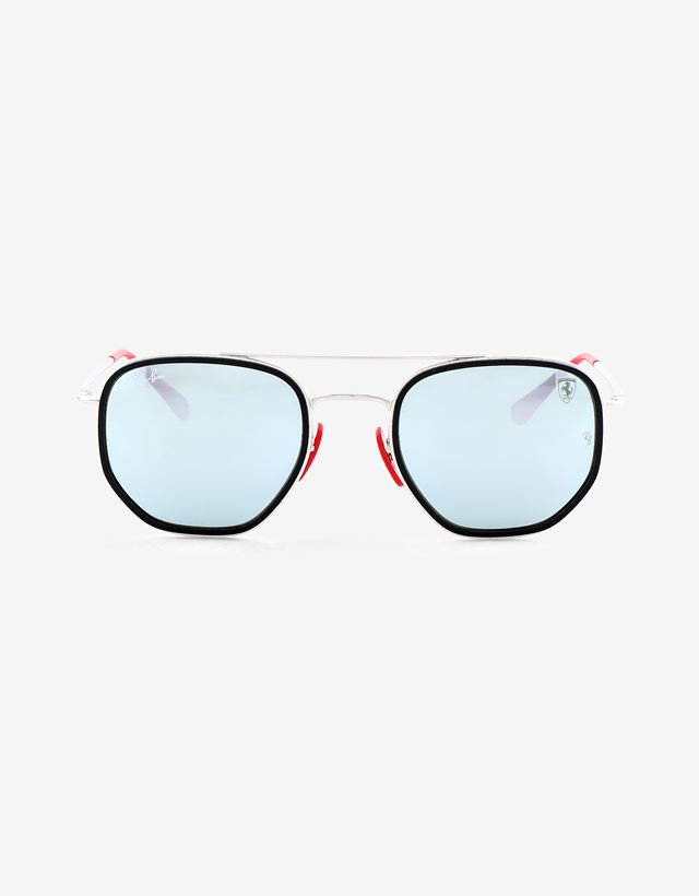 Scuderia Ferrari Online Store - Ray-Ban for Scuderia Ferrari with mirrored lenses RB3748M - Sunglasses
