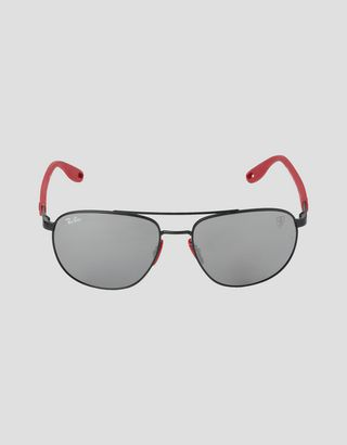 Scuderia Ferrari Online Store - Ray-Ban for Scuderia Ferrari with mirrored lenses RB3659M - Sunglasses