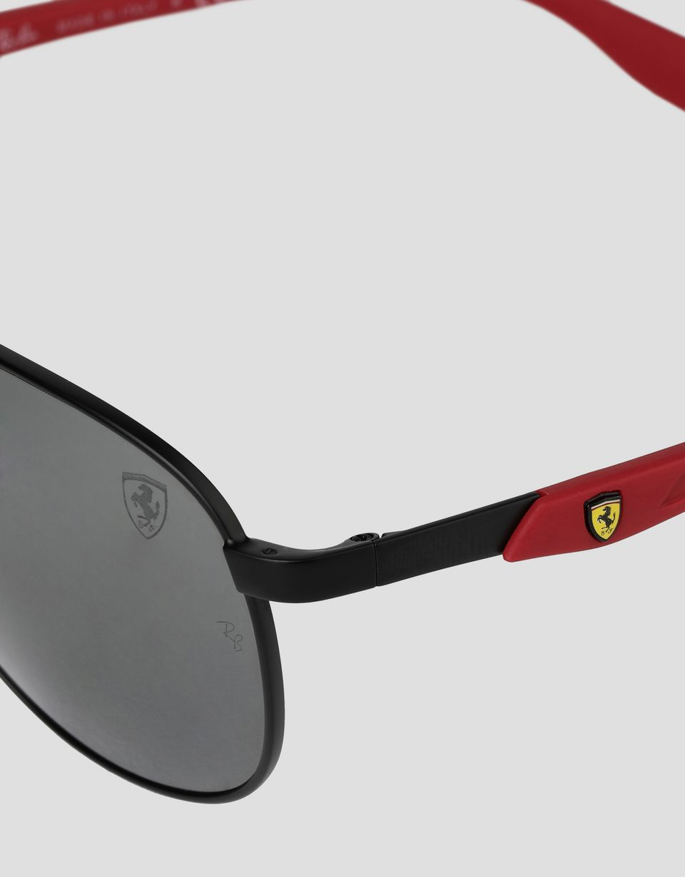 Scuderia Ferrari Online Store - Ray-Ban for Scuderia Ferrari with RB3659M mirrored lenses - Sunglasses