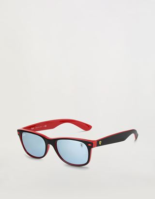 Scuderia Ferrari Online Store - Ray-Ban for Scuderia Ferrari with mirrored lenses RB2132M - Sunglasses