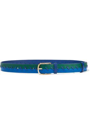 DIANE VON FURSTENBERG Whipstitched two-tone leather belt