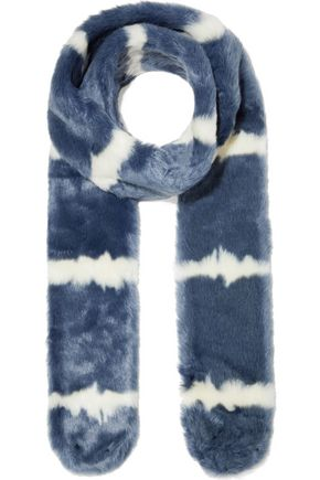 CHARLOTTE SIMONE Alice two-tone faux fur scarf