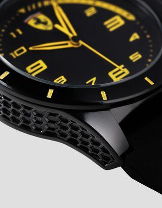 Scuderia Ferrari Online Store - Boys black RedRev watch with yellow details - Quartz Watches