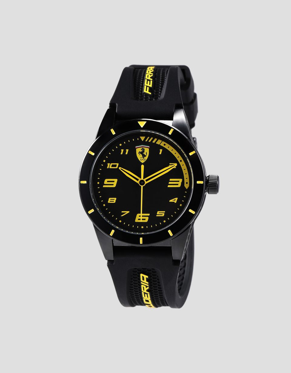 Scuderia Ferrari Online Store - Boys black RedRev watch with yellow details - Quartz Watches