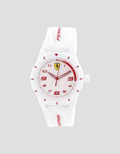 Белые детские наручные часы RedRev с красными деталями