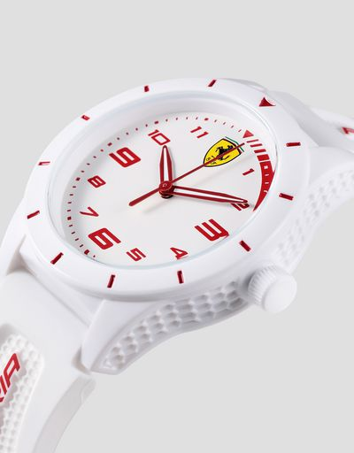 Boys white RedRev watch with red details