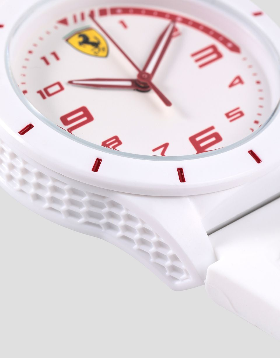 Scuderia Ferrari Online Store - Boys white RedRev watch with red details - Quartz Watches