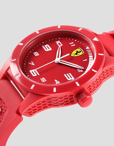 Boys red RedRev watch with white details