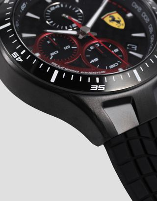 Scuderia Ferrari Online Store - Race Day Chronograph watch with black silicone strap - Chrono Watches
