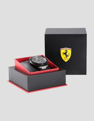 Scuderia Ferrari Online Store - Speedracer automatic watch with skeleton dial and luminous details - Chrono Watches