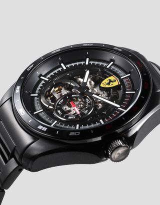 Scuderia Ferrari Online Store - Speedracer automatic watch with skeleton dial and light up details - Chrono Watches