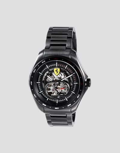 Speedracer automatic watch with skeleton dial and luminous details