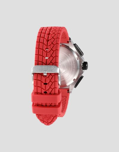 Scuderia Ferrari Online Store - Race Day Chronograph watch with red silicone strap - Chrono Watches