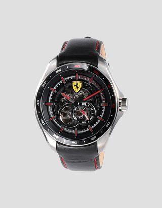 Scuderia Ferrari Online Store - Montre automatique Speedracer avec cadran ajouré et détails rouges - Montres chrono