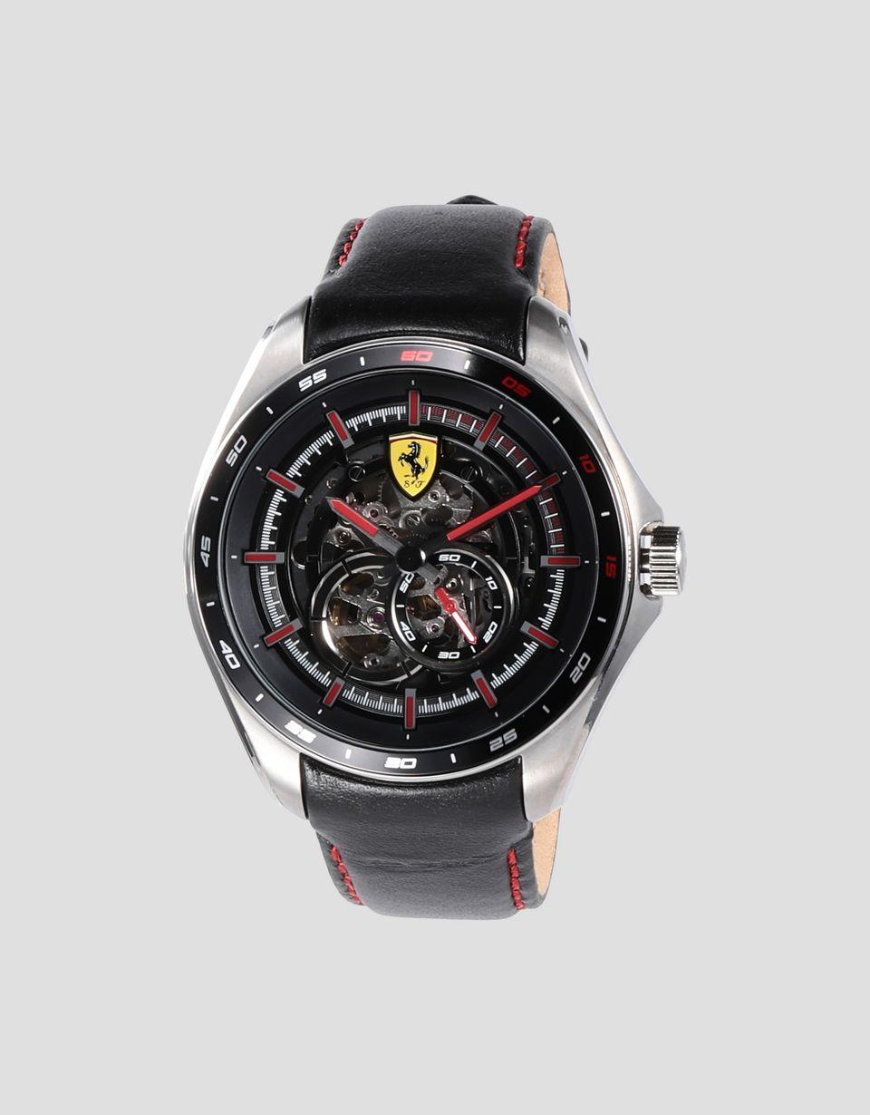 Scuderia Ferrari Online Store - Orologio automatico  Speedracer con quadrante scheletrato e dettagli rossi - Orologi Crono