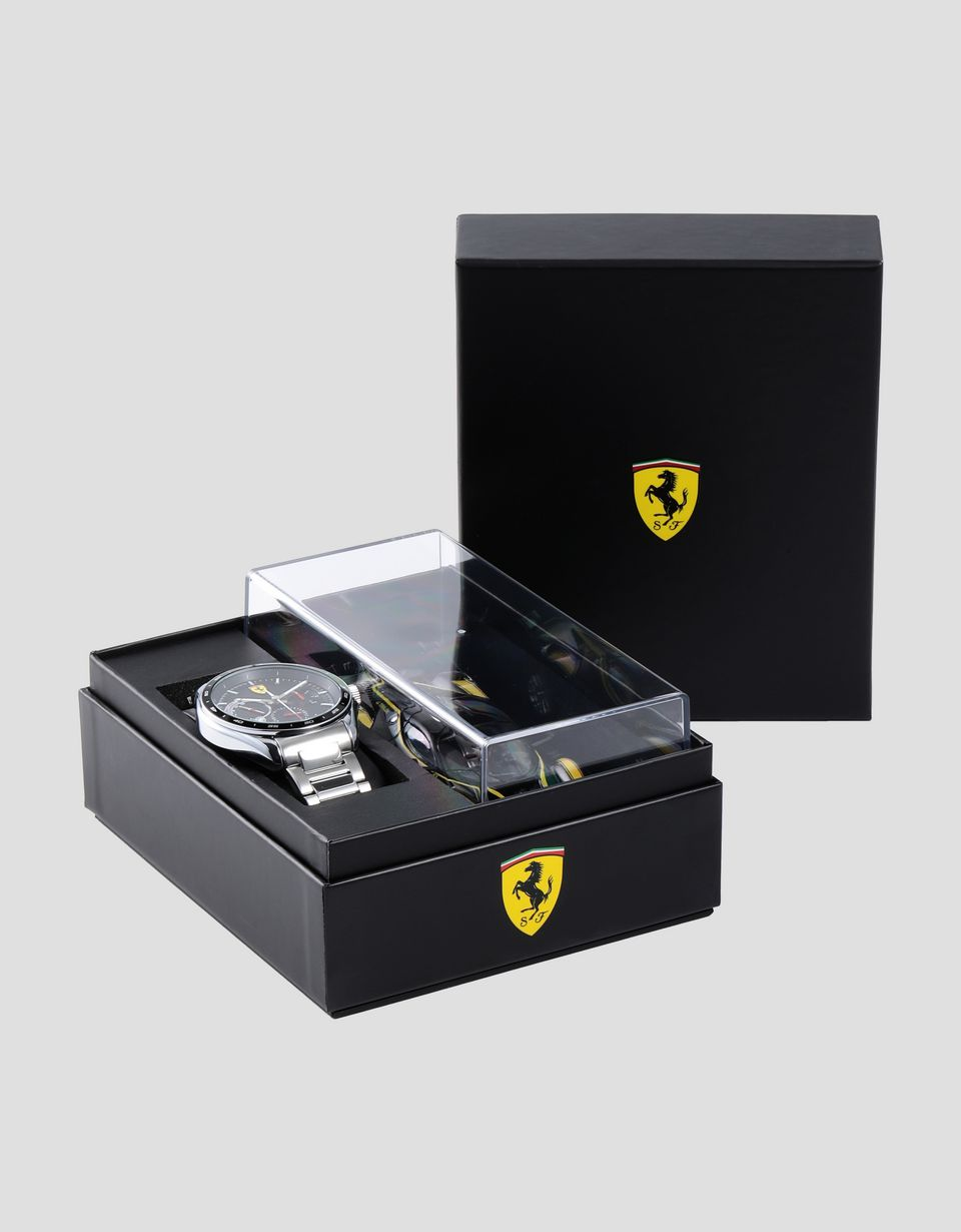 Scuderia Ferrari Online Store - Speedracer multi-functional watch with Bburago Ferrari FXX K 1:43 scale model - Chrono Watches