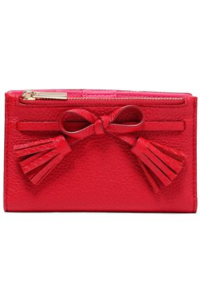 KATE SPADE New York Bow-embellished pebbled leather wallet