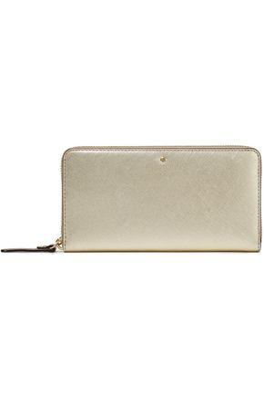 KATE SPADE New York Cedar Street metallic textured-leather wallet