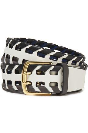 DIANE VON FURSTENBERG Whipstitched leather belt