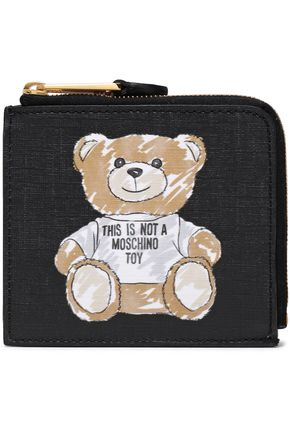 MOSCHINO Printed faux leather cardholder