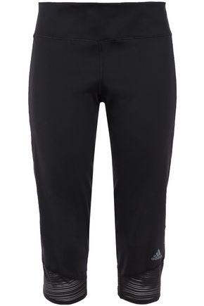 ADIDAS Cropped paneled stretch leggings