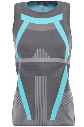 ADIDAS by STELLA McCARTNEY Stretch intarsia-knit tank