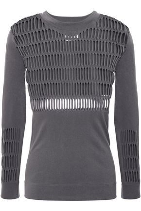 ADIDAS by STELLA McCARTNEY + adidas stretch open-knit top