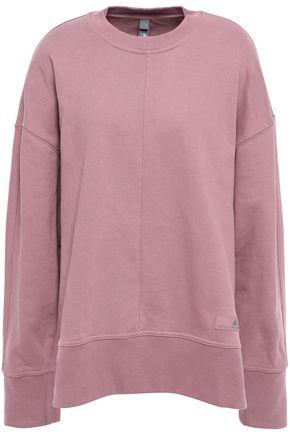 ADIDAS by STELLA McCARTNEY + adidas zip-detailed printed cotton sweatshirt