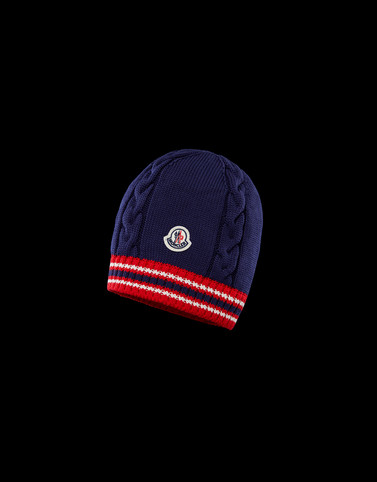 HAT Dark blue Category BEANIES Man
