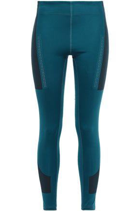 ADIDAS by STELLA McCARTNEY + adidas color-block printed stretch-jersey leggings