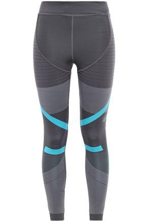 ADIDAS by STELLA McCARTNEY + adidas striped stretch-jacquard leggings