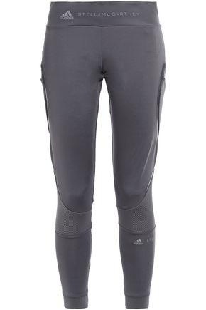ADIDAS by STELLA McCARTNEY Mesh-trimmed stretch leggings