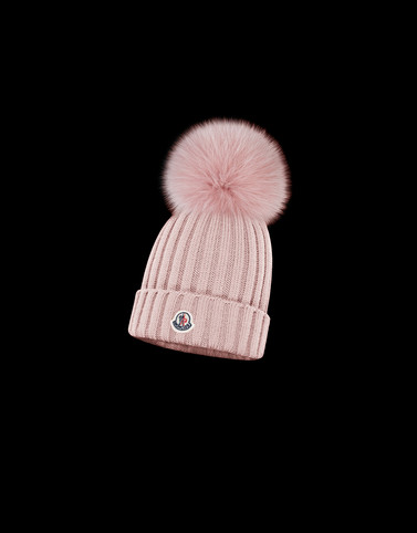 HAT Pink Category POMPOM BEANIES