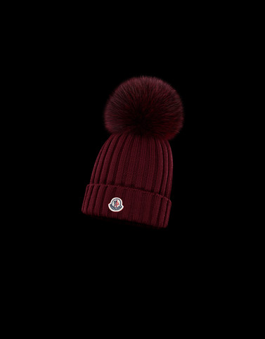 HAT Bordeaux Category POMPOM BEANIES Woman