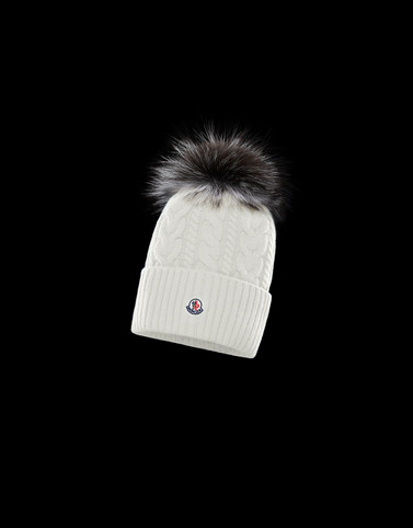 HAT Ivory Category POMPOM BEANIES Woman