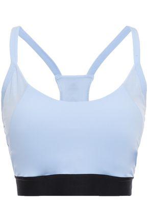 ADIDAS Paneled mesh and stretch sports bra