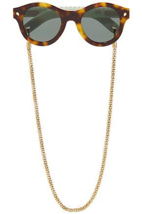 LUCY FOLK Grande & Sweet round-frame tortoiseshell acetate sunglasses