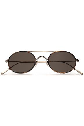 OLIVER PEOPLES Round-frame gold-tone sunglasses